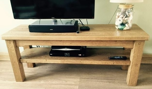 Oak TV Table