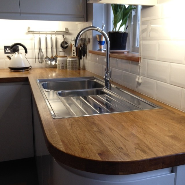 Oak Worktop With Sink Hartwood Timber
